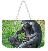 Bonobo Adult Playing With Baby Weekender Tote Bag