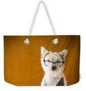 Bookish Dog Weekender Tote Bag by Edward Fielding