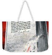 Books Are Weapons In The War Of Ideas 1942 Us World War II Anti-german Poster Showing Nazis  Weekender Tote Bag