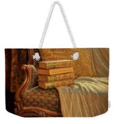 Books On Victorian Sofa Weekender Tote Bag