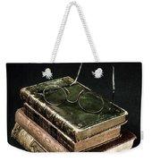 Books With Glasses Weekender Tote Bag by Joana Kruse