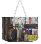 Bookworm Bookshelf Still Life Weekender Tote Bag