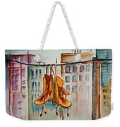 Boots On A Wire Weekender Tote Bag