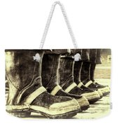 Boots On The Ground Monotone Weekender Tote Bag by Joan Carroll