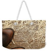 Boots On Wood Weekender Tote Bag