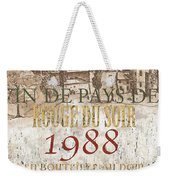 Bordeaux Blanc Label 1 Weekender Tote Bag