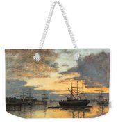 Bordeaux In The Harbor Weekender Tote Bag