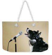 Border Collie Dog Singing Weekender Tote Bag