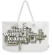 Borne On Wings Of Steel Weekender Tote Bag