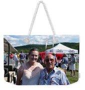 Borsos Anna Ruzsan With Sir Stirling Moss 2012 Weekender Tote Bag