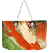 Borzoi Art - Hunting In The Ussr Poster Weekender Tote Bag