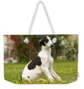 Borzoi Puppy Weekender Tote Bag