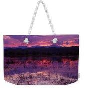 Bosque Sunset - Purple Weekender Tote Bag