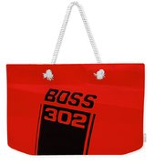 Boss 302 Emblem On A Car Weekender Tote Bag