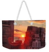 Boston At Dawn Weekender Tote Bag