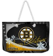 Boston Bruins Christmas Weekender Tote Bag