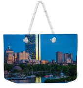 Boston By Night Weekender Tote Bag