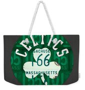 Boston Celtics Basketball Team Retro Logo Vintage Recycled Massachusetts License Plate Art Weekender Tote Bag