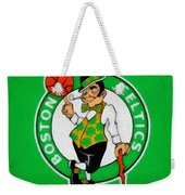 Boston Celtics Canvas Weekender Tote Bag by Dan Sproul