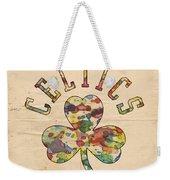 Boston Celtics Poster Art Weekender Tote Bag