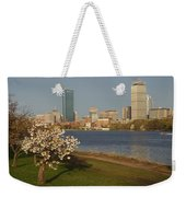 Boston Charles River On A Spring Day Weekender Tote Bag