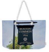 Boston Common Park Sign, Boston, Ma Weekender Tote Bag