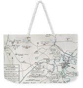 Boston-concord Map, 1775 Weekender Tote Bag