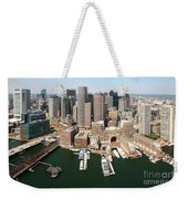 Boston Harbor And Boston Skyline Weekender Tote Bag