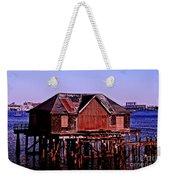 Boston Harbor Pier Dwelling Weekender Tote Bag