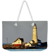Boston Light Weekender Tote Bag