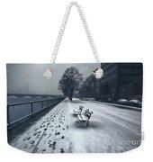Boston Longfellow Bridge-snow Cityscape V2 Weekender Tote Bag