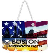Boston Ma Patriotic Large Cityscape Weekender Tote Bag