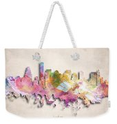 Boston Painted City Skyline Weekender Tote Bag