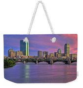 Boston Pastel Sunset Weekender Tote Bag by Joann Vitali