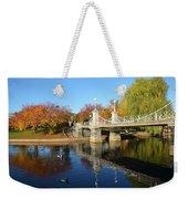 Boston Public Garden Autumn Weekender Tote Bag