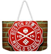 Boston Red Sox 1915 World Champions Weekender Tote Bag by Stephen Stookey