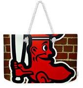 Boston Red Sox 1950s Logo Weekender Tote Bag by Stephen Stookey