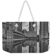 Boston Reflections Bw Weekender Tote Bag