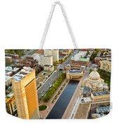 Boston Rooftops Weekender Tote Bag
