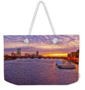 Boston Sky Weekender Tote Bag by Joann Vitali