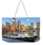 Boston Skyline And Thompson Island Ferry I Weekender Tote Bag