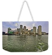 Boston Skyline At Sunset Weekender Tote Bag