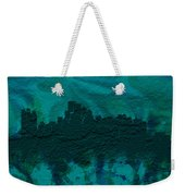 Boston Skyline Brick Wall Mural Weekender Tote Bag