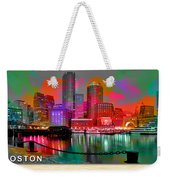 Boston Skyline Painting Weekender Tote Bag