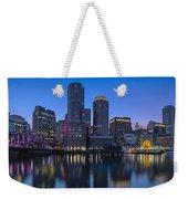Boston Skyline Seaport District Weekender Tote Bag