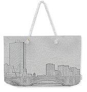 Boston Skyline Stencil Weekender Tote Bag