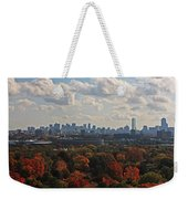 Boston Skyline View From Mt Auburn Cemetery Weekender Tote Bag