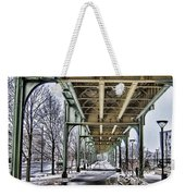 Boston Streetcar Overpass-cambridge V2 Weekender Tote Bag