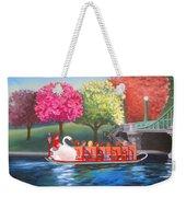 Boston Swan Boat Weekender Tote Bag