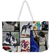 Boston Terrier Watercolor Collage Weekender Tote Bag